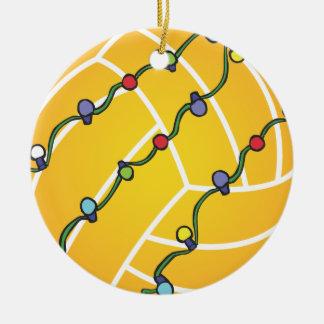 Wasserball-Ball mit Licht-Feiertag Oranament Keramik Ornament