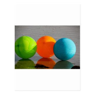 Wasserball-Ballone Postkarte
