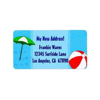 Wasserball-Pool-Regenschirm-kundenspezifisches Adressaufkleber