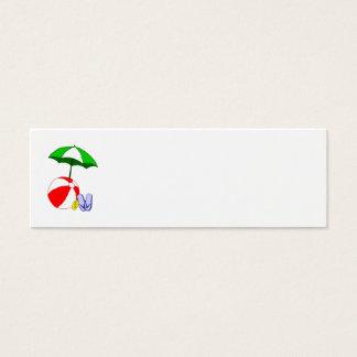 Wasserball-Pool-Regenschirm-Schablone Mini Visitenkarte