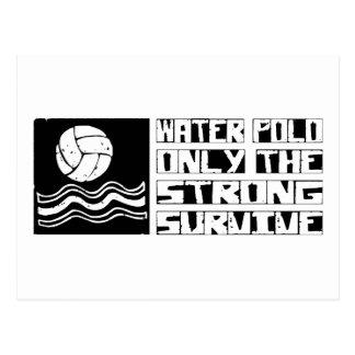 Wasserball überleben postkarte
