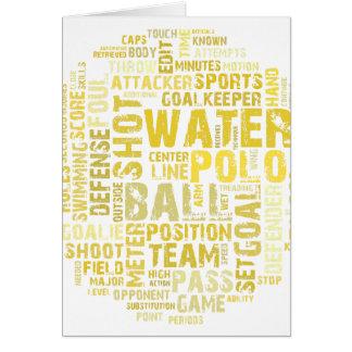 Wasserball-Wort-Wolken-Produkte Karte