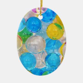 Wasserbälle Ovales Keramik Ornament