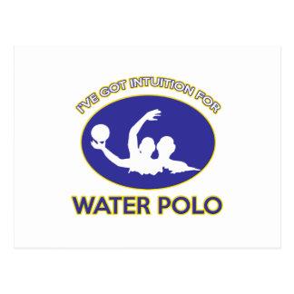 Wasserballentwurf Postkarte