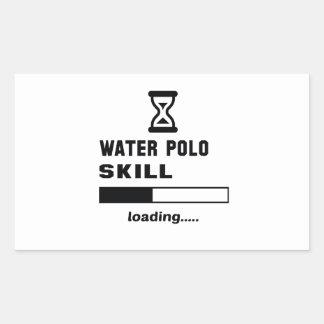 Wasserballfähigkeit Laden ...... Rechteckiger Aufkleber