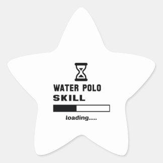 Wasserballfähigkeit Laden ...... Stern-Aufkleber
