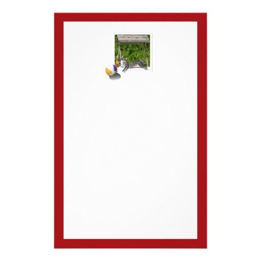 Wasserballkitty-Foto Bedrucktes Papier