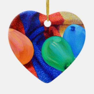 WasserBallons am Strand Keramik Herz-Ornament