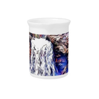 Wasserfall-Farbmalerei Krug