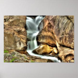Wasserfall, Gurren-Schlucht, Maine Poster