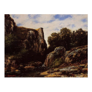 Wasserfall Gustave Courbet- im Jura Postkarte