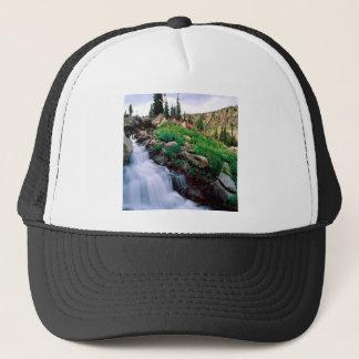 Wasserfall-Hetzen von Frühling Teton Park Wyoming Truckerkappe