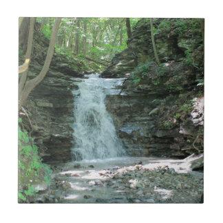 Wasserfall im Holz Keramikfliese