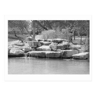 Wasserfall im Park Postkarte
