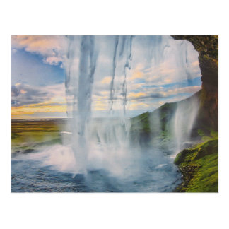 Wasserfall in Island- Postkarte