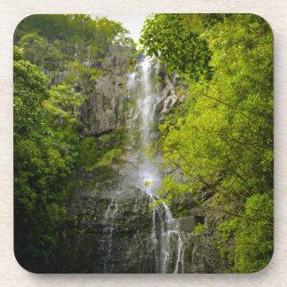Wasserfall in Maui Hawaii Getränkeuntersetzer