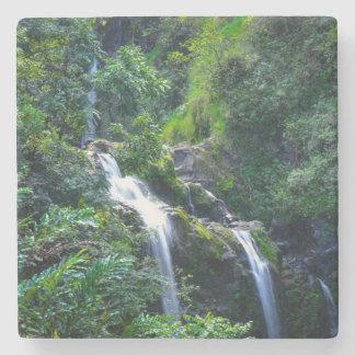 Wasserfall in Maui Hawaii Steinuntersetzer