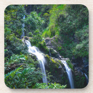 Wasserfall in Maui Hawaii Untersetzer