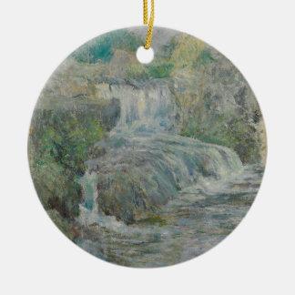 Wasserfall - John Henry Twachtman Rundes Keramik Ornament