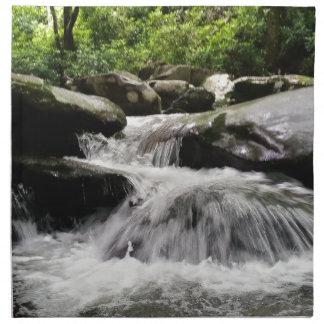 Wasserfall kaskadiert Great Smoky Mountains Stoffserviette