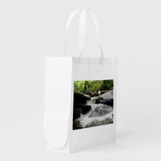 Wasserfall kaskadiert Great Smoky Mountains Wiederverwendbare Einkaufstasche
