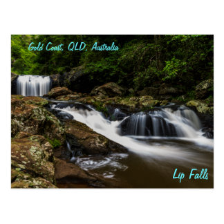 Wasserfall-Lippenfälle Gold Coast Australien Postkarte