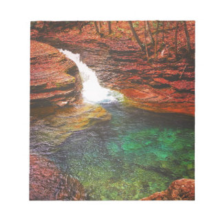 Wasserfall Notizblock
