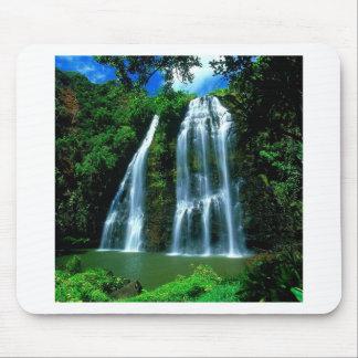 Wasserfall Opaekaa Kauai Hawaii Mousepads