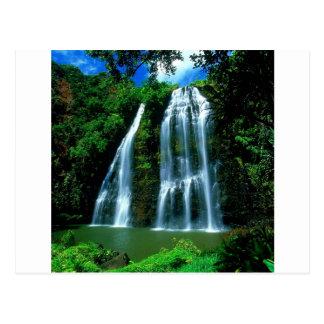Wasserfall Opaekaa Kauai Hawaii Postkarte
