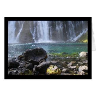 Wasserfall-Pool-Lied von Solenoid. 5:8 Gruß-Karte Karte