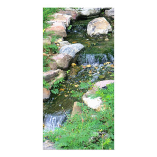 Wasserfall-Postkarte Foto Grußkarte