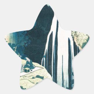 Wasserfall Stern-Aufkleber