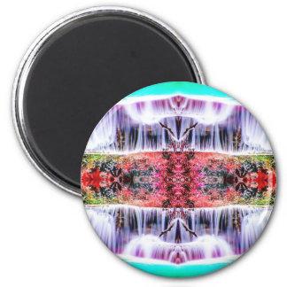Wasserfall-Träume Runder Magnet 5,1 Cm