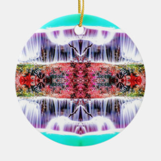 Wasserfall-Träume Rundes Keramik Ornament