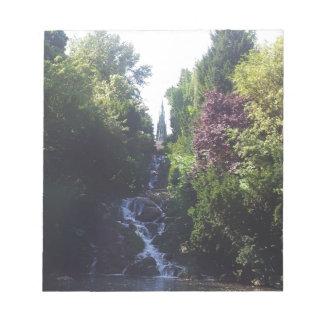 Wasserfall Viktoria Park Notizblock
