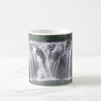 Wasserfall-weißer Kaffee-Tasse Kaffeetasse