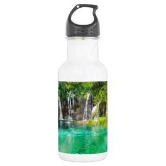 Wasserfälle an Plitvice Nationalpark in Kroatien Edelstahlflasche