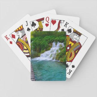 Wasserfälle an Plitvice Nationalpark in Kroatien Spielkarten