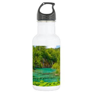 Wasserfälle in Plitvice Nationalpark in Kroatien Edelstahlflasche