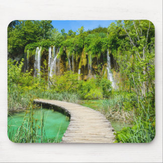 Wasserfälle in Plitvice Nationalpark in Kroatien Mousepad