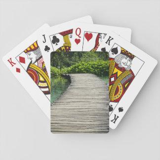 Wasserfälle in Plitvice Nationalpark in Kroatien Spielkarten
