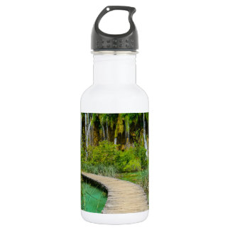 Wasserfälle in Plitvice Nationalpark in Kroatien Trinkflasche