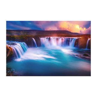 Wasserfälle Leinwanddruck