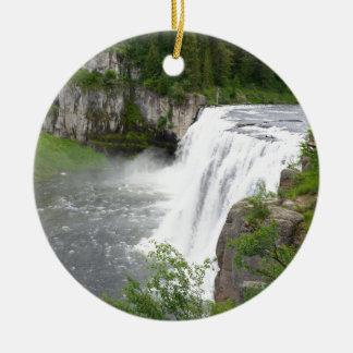 Wasserfälle Rundes Keramik Ornament