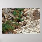 Wasserfälle von Ein Gedi in Judean Wüste, Israel Poster