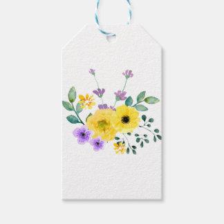 Wasserfarbe-Blumen Geschenkanhänger