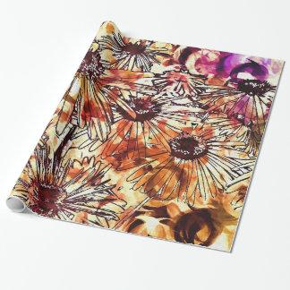 Wasserfarbe-Blumen Geschenkpapier