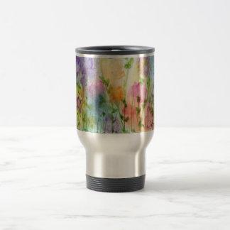 Wasserfarbe-Blumen-Reise-Tasse Reisebecher