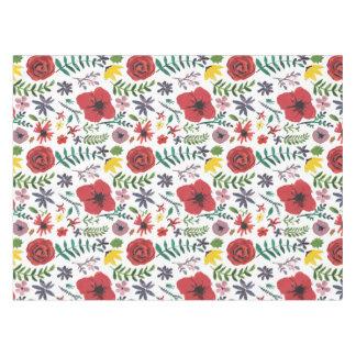 Wasserfarbe-Blumenentwurf Tischdecke