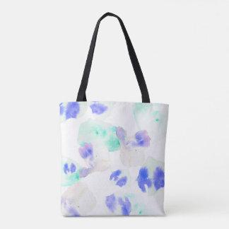 Wasserfarbe-Blüten-Aqua Tasche